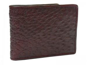 Мужской кошелек из страуса с монетницей