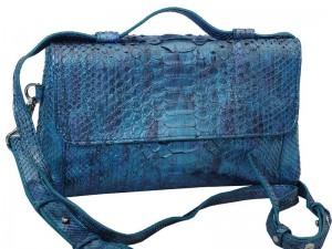 Стильная женская сумка из кожи питона