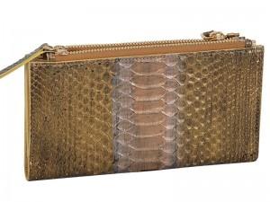 Элегантное дамское портмоне из питона Gold