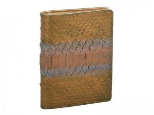 Оригинальный кошелек из питона с золотом