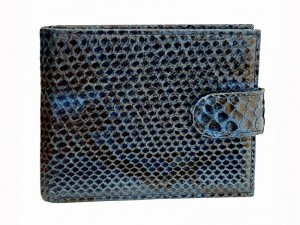 Мужской кошелек с монетницей из питона
