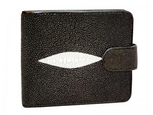 Крупный кошелек из кожи ската с монетницей