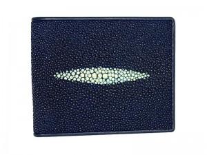 Синий кошелек из кожи морского ската
