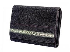 Стильный женский кошелек из кожи ската