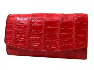 Стильный кошелек из брюха крокодила