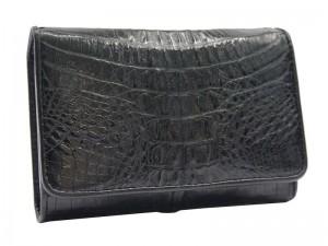 Кошелек из кожи крокодила (в 3 сложения)