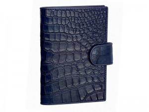 Обложка для паспорта из кожи с брюха крокодила