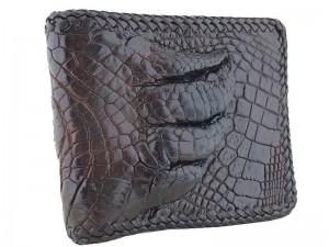 Мужской кошелек из кожи с лапой крокодила