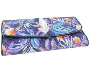 Женское портмоне из кожи ската с рисунком