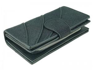 Женский бумажник из кожи морского ската