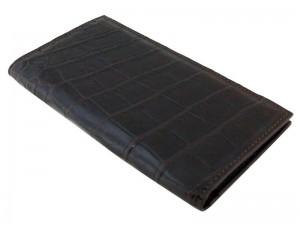 Мужское портмоне из кожи с брюха крокодила