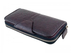 Мужское портмоне из натуральной кожи страуса