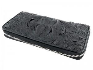 Мужское портмоне с затылочной частью крокодила