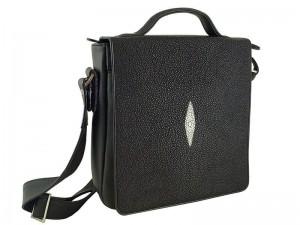 Деловая сумка с кожей морского ската