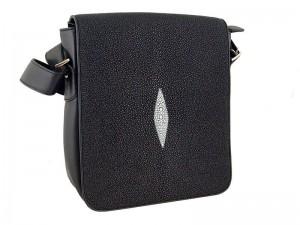 Наплечная сумка-планшет из кожи ската