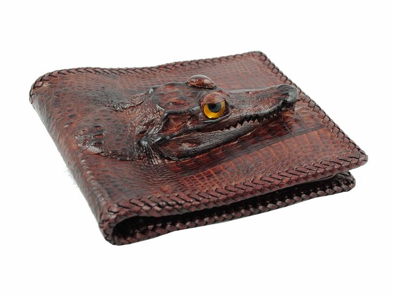 8835f2cce9b6 Кожаные кошельки, портмоне из кожи крокодила и бумажники из крокодиловой  кожи